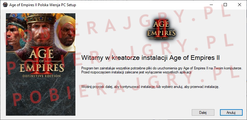 Age of Empires 2 instalator 1