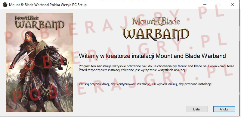 Mount and Blade warband instalator 1