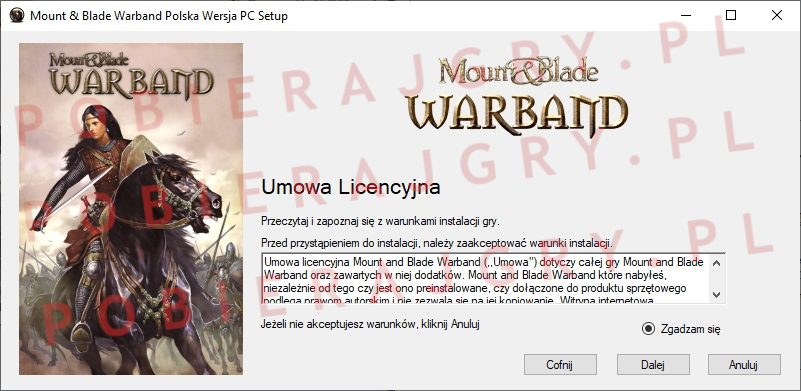 Mount and Blade warband instalator 2