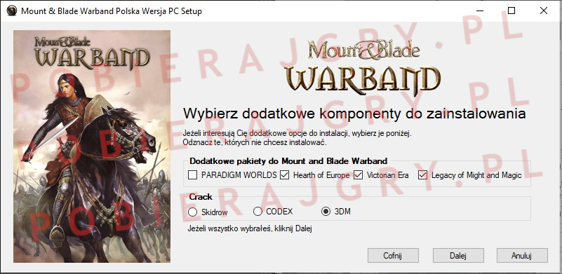 Mount and Blade warband instalator 3