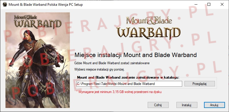 Mount and Blade warband instalator 4