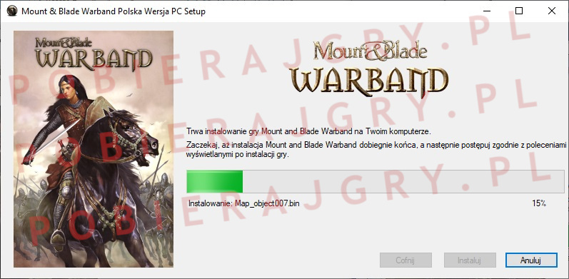 Mount and Blade warband instalator 5