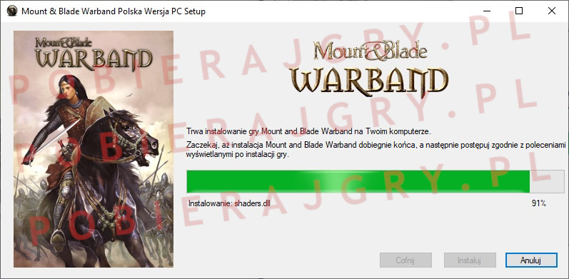Mount and Blade warband instalator 6