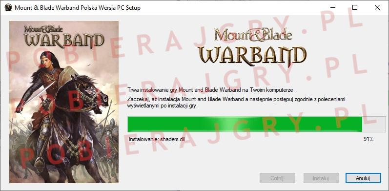 Mount and Blade warband instalator 6