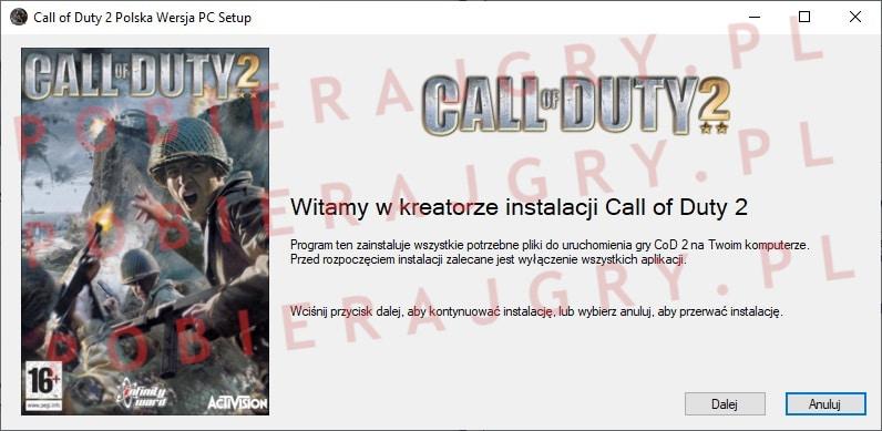 Call of Duty 2 instalacja 1