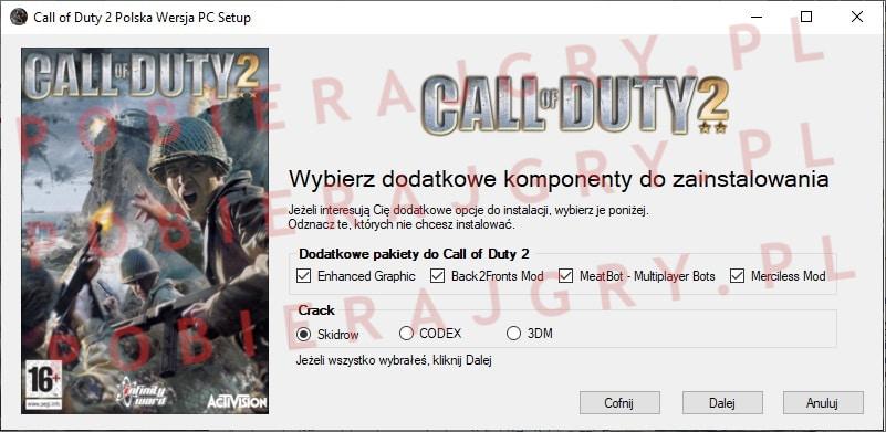 Call of Duty 2 instalacja 3