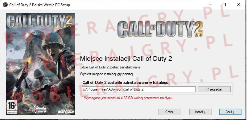 Call of Duty 2 instalacja 4