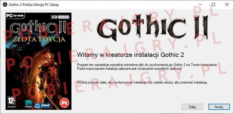 Gothic 2 Instalacja 1