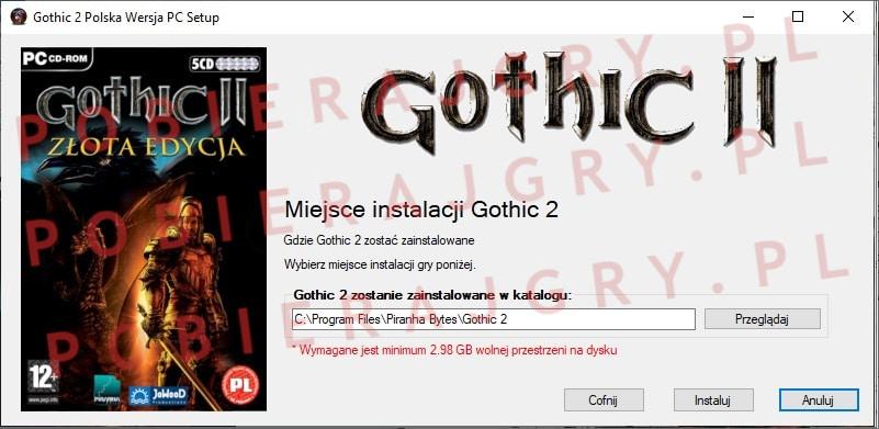 Gothic 2 Instalacja 4