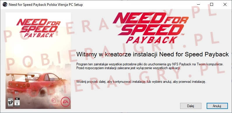 Need for Speed Payback instalator 1