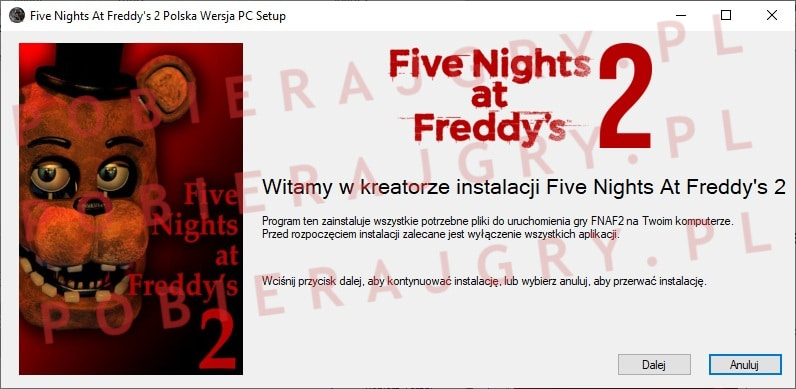 fnaf 2 instalacja 1