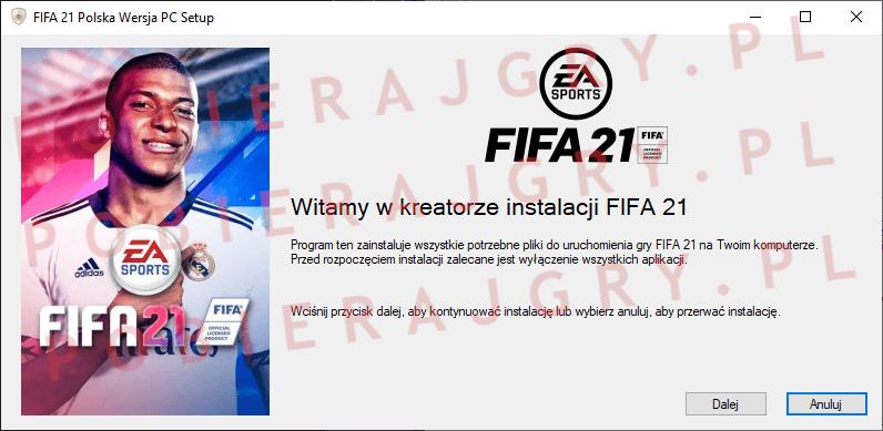 FIFA 21 instalacja 1