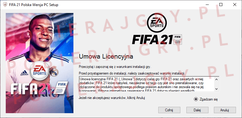 FIFA 21 instalacja 2