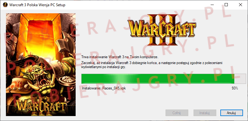 Warcraft 3 Instalacja 6