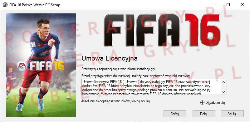 FIFA 16 instalacja 2