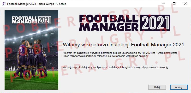 Football Manager 2021 Instalacja 1