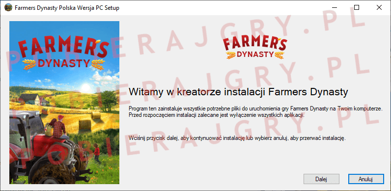 Farmers Dynasty Instalacja 1
