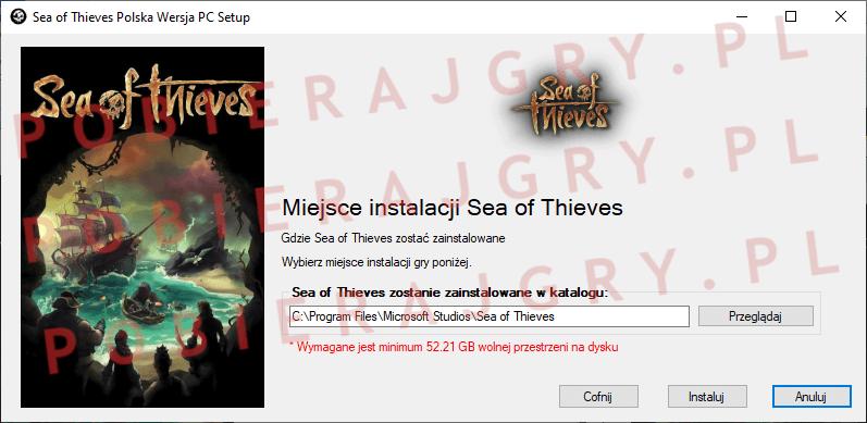 Sea of Thieves instalacja 4