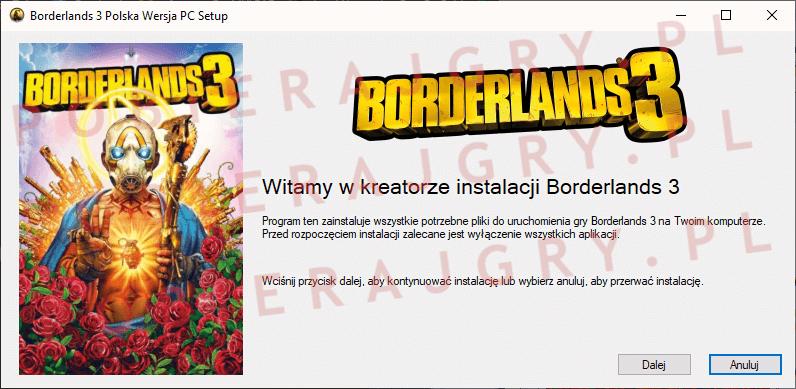 Borderlands 3 Instalacja 1