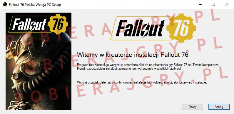Fallout 76 Instalacja 1