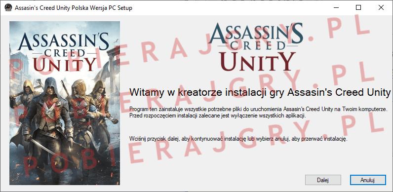Assasin's Creed Unity Instalacja 1