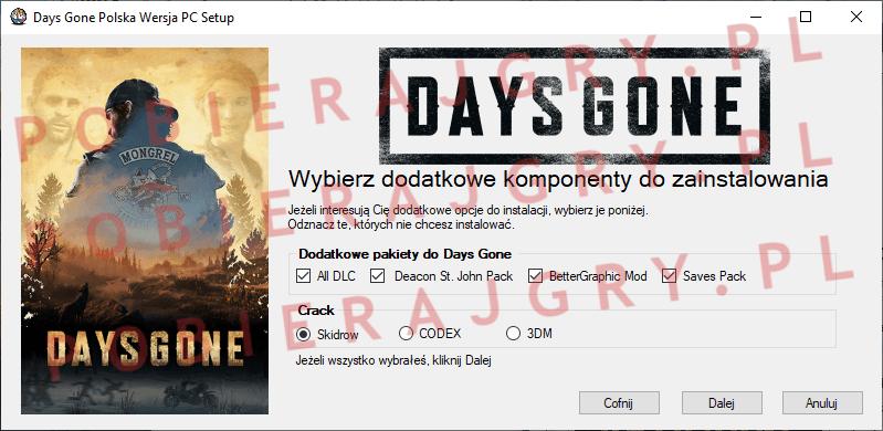 Days Gone Instalacja 3