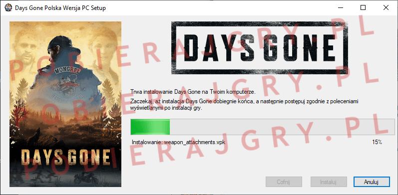 Days Gone Instalacja 5