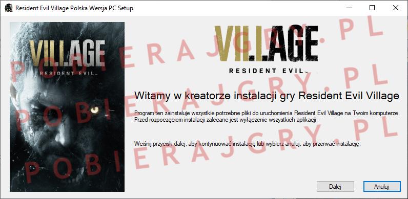 Resident Evil Village Instalacja 1
