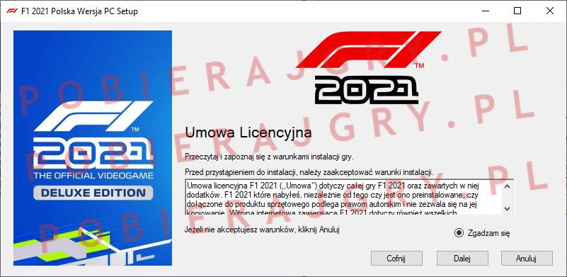 F1 2021 Instalacja 2