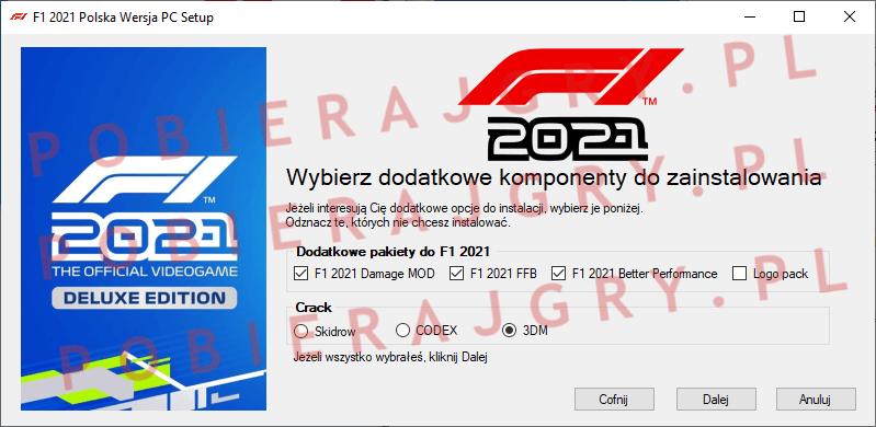 F1 2021 Instalacja 3